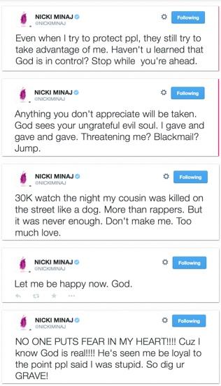 Nicki Minaj and Ex Boyfriend Safaree Engage in Twitter FightNicki Minaj And Safaree Fight